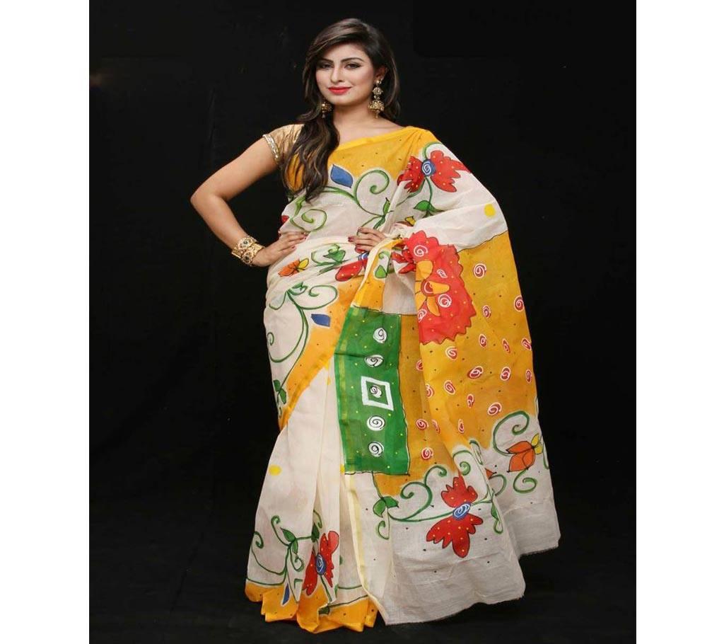 কটন কোটা হ্যান্ড প্রিন্ট শাড়ি বাংলাদেশ - 979461
