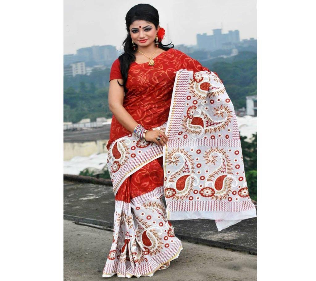 কটন কোটা হ্যান্ড প্রিন্ট শাড়ি বাংলাদেশ - 979600