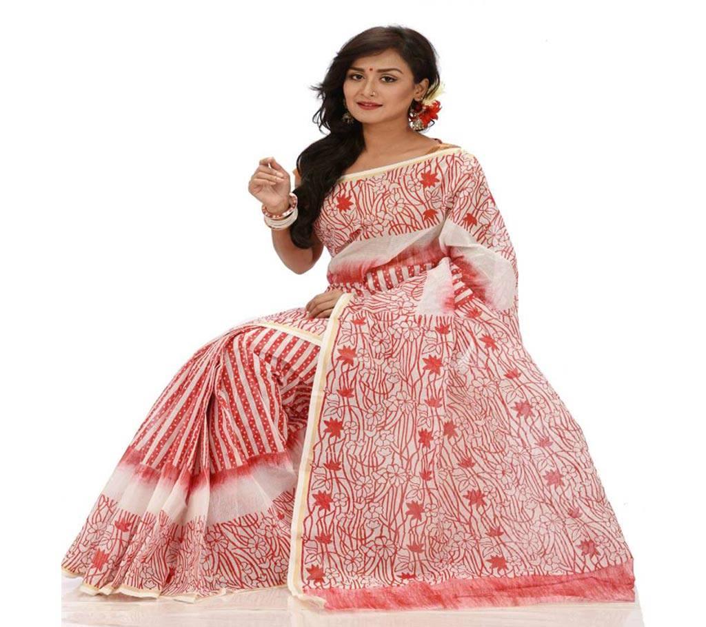 কটন কোটা হ্যান্ড প্রিন্ট শাড়ি বাংলাদেশ - 979601