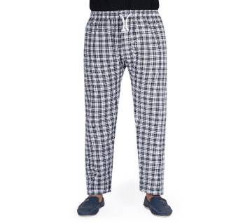 cotton trouser for man-white check