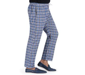 cotton trouser for man-check