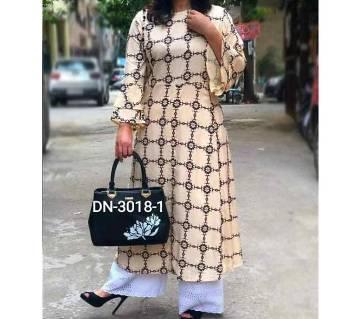 Unstitched Block Printed Cotton Salwar Kameez For Women-2pcs