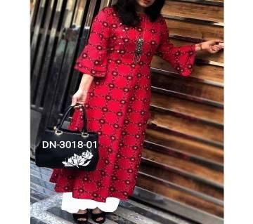 Unstitched Skin Printed Cotton Salwar Kameez for women-2pcs