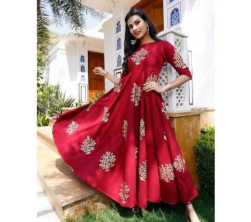 Unstitched Cotton Fabric Gown For women