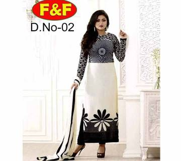 Unstitched Cotton Three-piece with block print (copy)