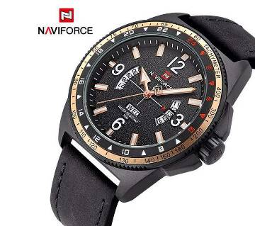 NAVIFORCE NF9103 PU leather wrist watch for men