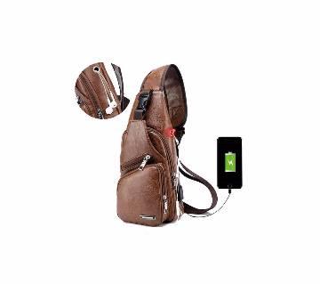 2 in 1 PU leather slide bag