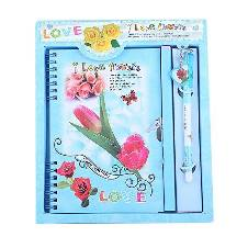 I Love You Flowers Pink Diary