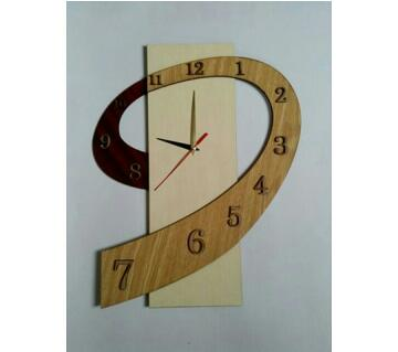 9 Shaped Wooden Clock