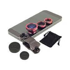 3 In 1 Clip Lens - Red and Black
