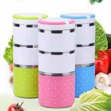 3 Layer Lunch Box Set 1 pc