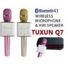 Karaoke Tuxun Q7 Wireless Bluetooth Microphone Speaker - Rose Gold