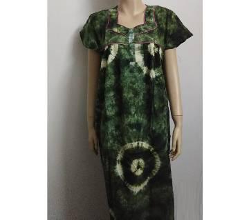 Ladies dye cotton maxi