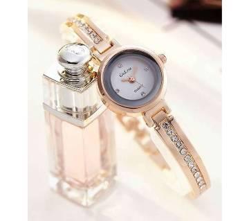 Fashion Collocation Wrist Watch For Women- Golden