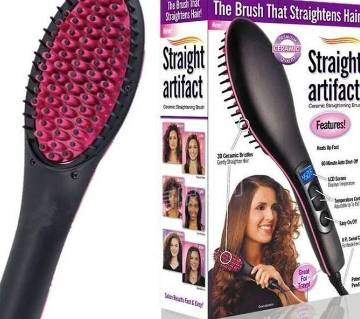 Simply Straight ceramic hair straightener brush
