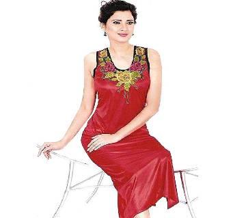 Red Silk Night Wear for Women