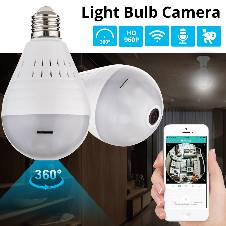LED Light 960P Wireless Panoramic IP Camera
