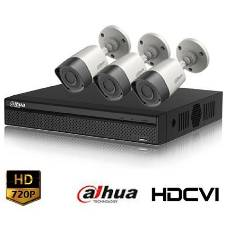 Dahua HD-CVI 04 Channel DVR With 03 Units HD-CVI 720p Camera