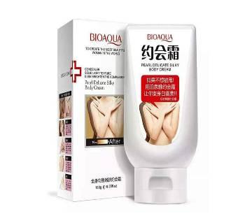 Bioaqua Pearl Delicate Silky বডি হোয়াইটেনিং ক্রিম - 180gm - Japan