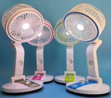 New Portable  Rechargeable Fan With Light