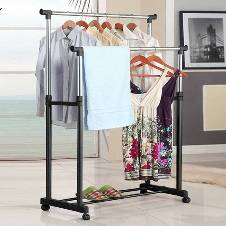 2 layer clothing rack