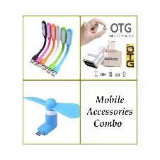 OTG Fan, OTG Converter & USB LED Light Combo
