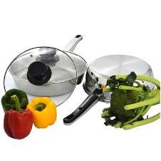 Frying Pan With Glass Lid (22cm)(Deep)