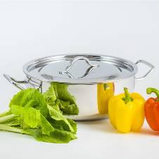 Curry সস পট স্টেইনলেস স্টিল লিড ও হ্যান্ডেল সহ (28cm)