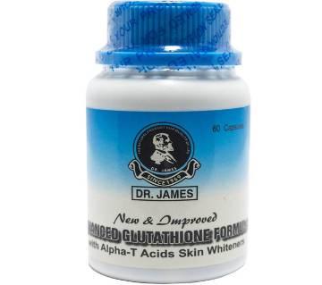 AUTHENTIC DR. JAMES ADVANCED GLUTATHIONE FORMULA SKIN হোয়াইটেনিং ক্যাপসুল- 1000 MILLIGRAMS!  - USA