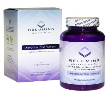Relumins Advance White 1650mg Glutathione Complex  ভেজিটেরিয়ান ক্যাপসুল USA