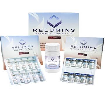 New Relumins Glutathione 1100mg with Relumin Gluta 1100 plus Booster 30 ক্যাপসুল - USA