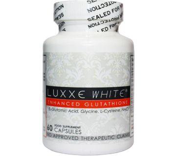 NEW AUTHENTIC LUXXE WHITE ENHANCED GLUTATHIONE - 60 ক্যাপসুল USA