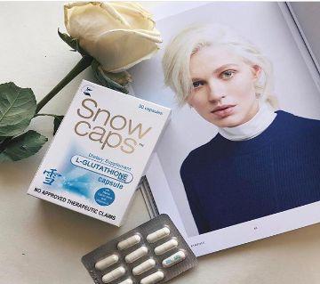 Snow Caps L-Glutathione Capsules with Alpha Lipoic Acid and Vitamin C - 500mg Glutathione Per Capsule - 30 ক্যাপসুল Snow Caps L-Glutathione Capsules USA