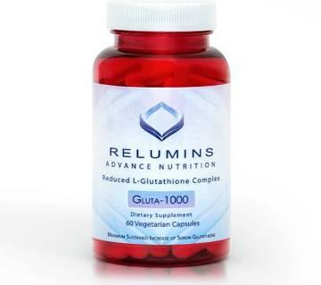 RELUMINS ADVANCE NUTRITION GLUTA 1000 - REDUCED L-GLUTATHIONE COMPLEX(60 Vegetarian) ক্যাপসুল - USA