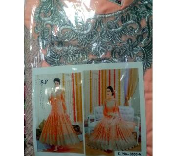 un stitched Ladies Georgette gown