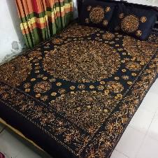 Nakshi bed sheet