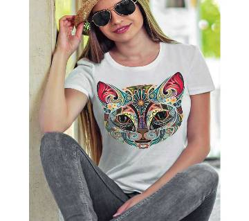 Cat Mat Round Neck for Women