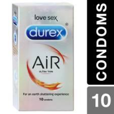 Durex Air Ultra Thin Love Sex Condoms 10pcs (Indian)