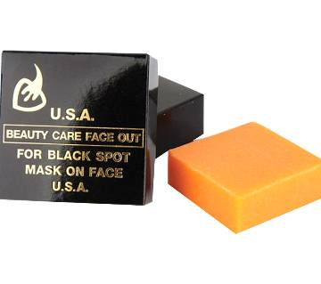 USA Beauty Care Face Out & Whitening Soap 50gm (For Black Spot Mask On Face and Body)
