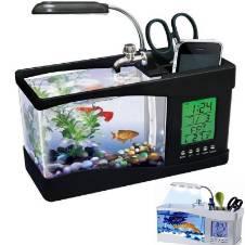 USB Desktop Aquarium With Clock