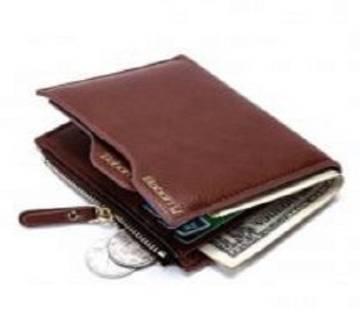 Brown Color Bogesi Money Purses Wallet For Men