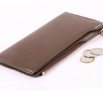 Genuine Bogesi Leather long mobaile Wallet For Men-Brown colour(money bag