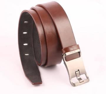 Artificial Leather Formal Belt for Men - Brown.