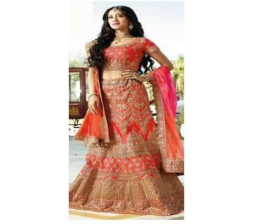 Same Stitched Georgette Embroidery  Wedding Lehanga For Women