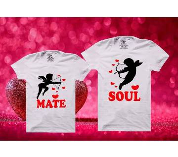 Soul Mate Mens Half  sleeve T-shirt