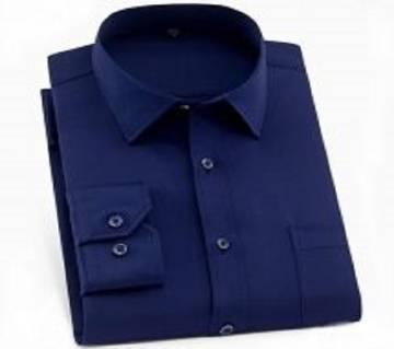 Navi blue Cotton Full  Hata Shirt For Men