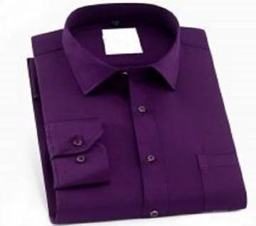 Purple Color Cotton Full Hata Shirt For Men