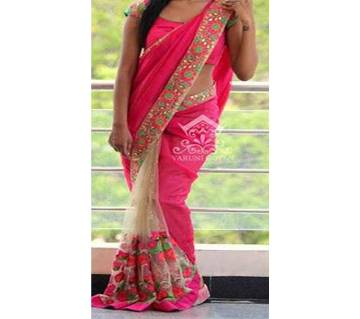 Indian weightless Georgette Embroidery Saree For women