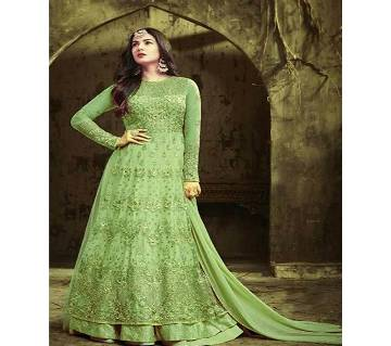Semi Stitched Indian weightless Georgette Gown for women