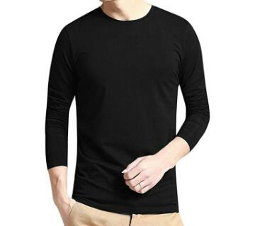 Menz Long  Sleeve Black cotton T shirt